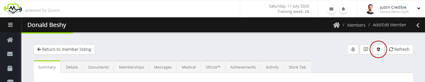 Adding Myzone from member record