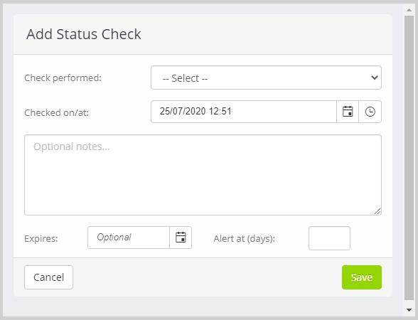 Member status check dialog