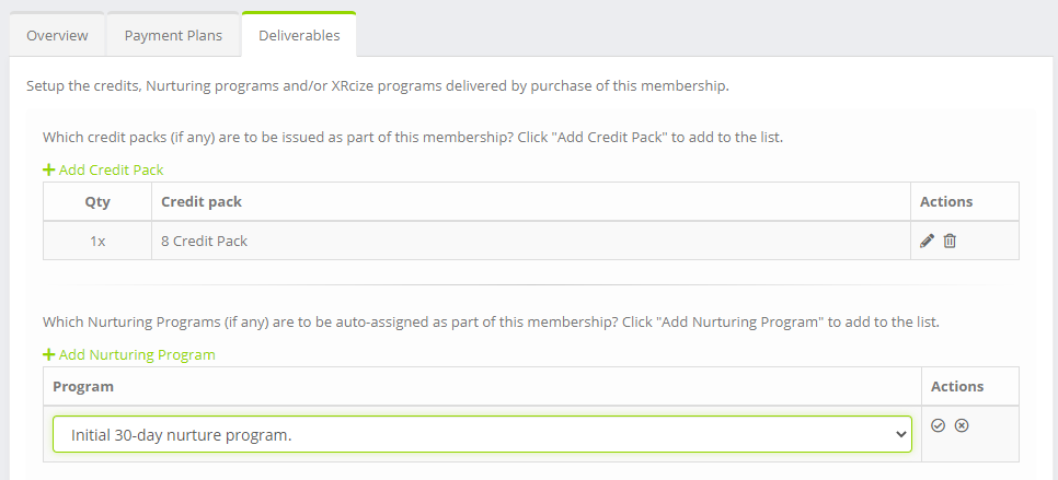 Adding a nurturing program to a membership