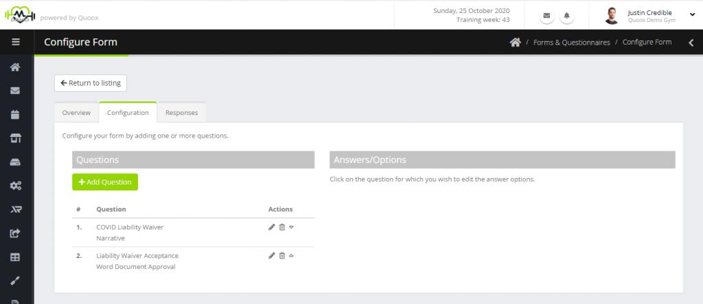 Add Edit Form Questions